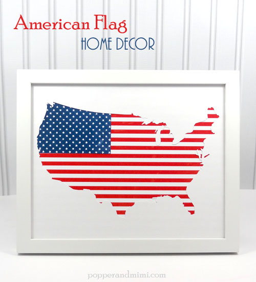 American flag home decor pebbles inc for American flag decoration