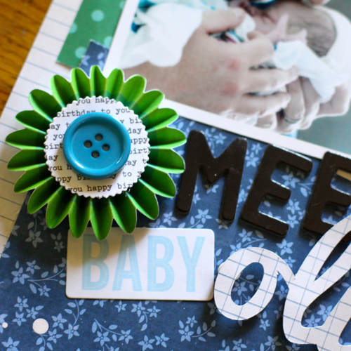 Sentimental Father's Day Scrapbook Layout via @justem for @PebblesInc using #SpecialDelivery & #BirthdayWishes collections #scrapbooking