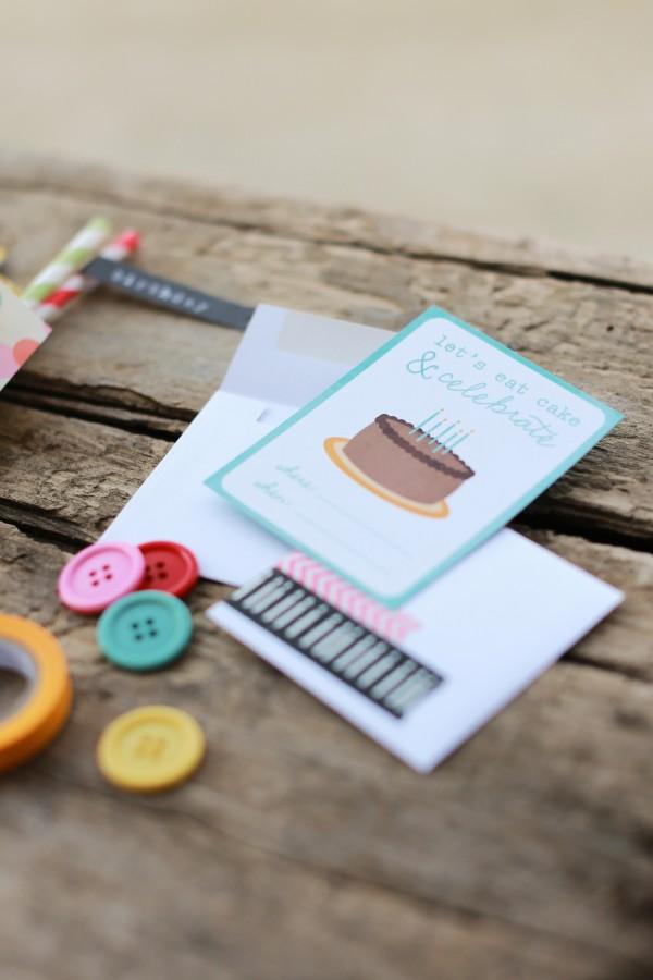 Mini birthday invitations by @pattykphoto using @PebblesInc #BirthdayWishes collection #birthday #handmade