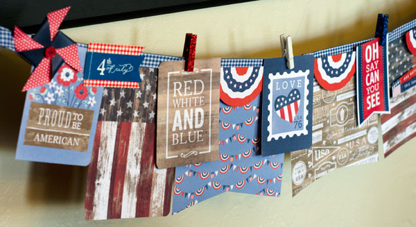 Red, white and blue home decor made by @tiffanyhood for @PebblesInc using the #Americana line. #FourthofJuly #homedecor #patriotic