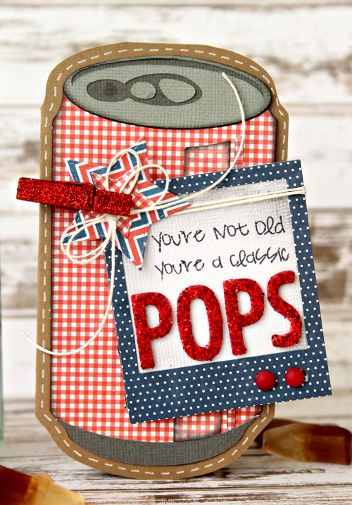 "Fun ""Treat for Pop"" Father's Day gift created by @scrapn2lilpins for @PebblesInc #FathersDay #Gift #Craft"