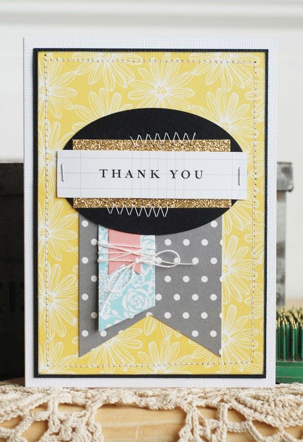 Easy Thank You cards created by @beckiadams for @pebblesinc