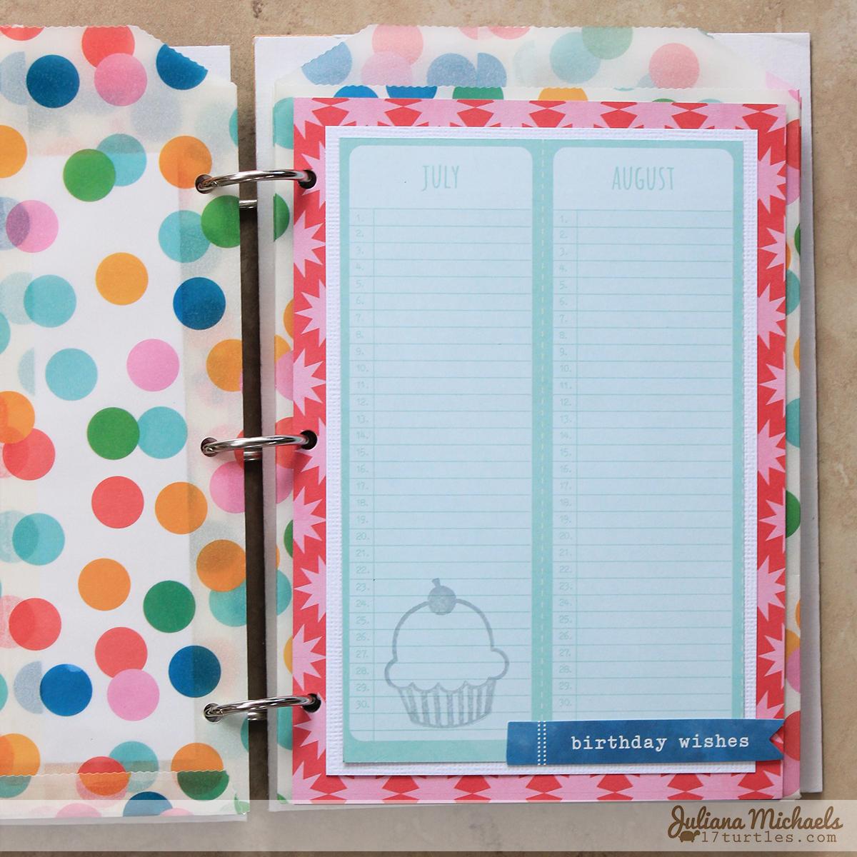 Birthday Calendar And Birthday Card Organizer