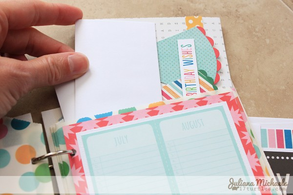 Never forget another birthday with this birthday calendar and card organizer made by @julianamichaels using @PebblesInc #BirthdayWishes collection.