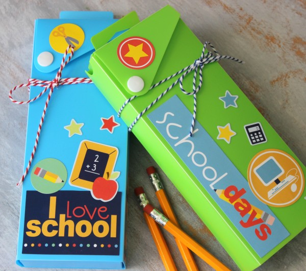 Back to School Pencil Boxes @ribbonsandglue