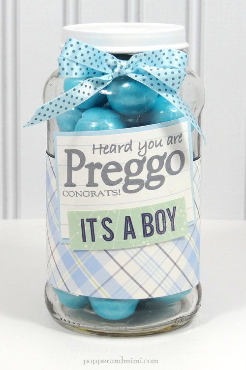 The perfect little gift jar for all the sweet expecting mothers in your life made by @popperandmimi using @PebblesInc darling collection #SpecialDelivery.