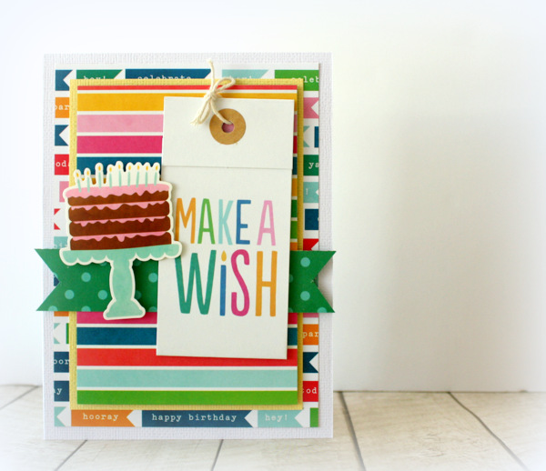 Whip up cute birthday cards in a flash with @kimjeffress and the #birthdaywishes collection from @PebblesInc.