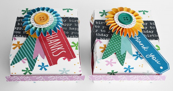 Fun and super unique birthday burger box party favors by @wendysue using @PebblesInc collection #BirthdayWishes. #partyfavors
