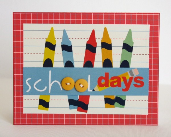 Pebbles Inc. Back To School Card by Mendi Yoshikawa @PebblesInc. @Mendi Yoshikawa