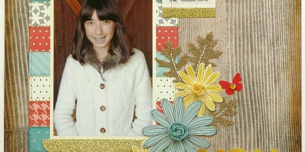 Colors of Fall Layout with Rosette Tutorial