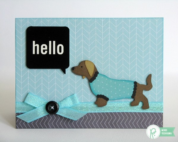 Sweater Weather Card by Mendi Yoshikawa using the #JHHomeMade collection from @PebblesInc.