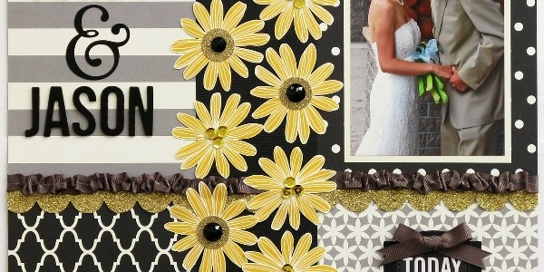Fall Wedding Layout and Ribbon Tutorial