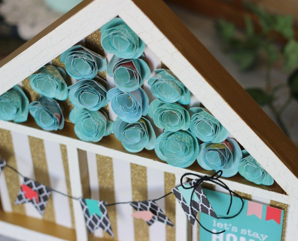 Jen Hadfield Home + Made #pebblesinc collection , rolled flowers by @ribbonsandglue