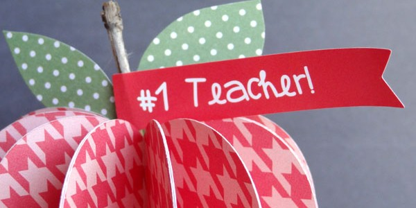 Paper Apples for Teacher