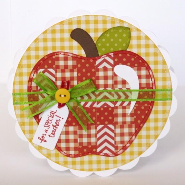 Pebbles Apple themed cards with weaving tutorial by Mendi Yoshikawa using #Basics Collection from @PebblesInc. @MendiYoshikawa