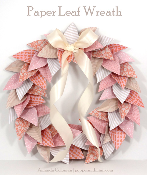 Pretty Paper Leaf Wreath by Amanda Coleman