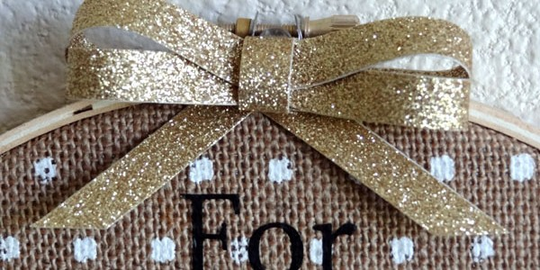 Burlap Hoop Decor