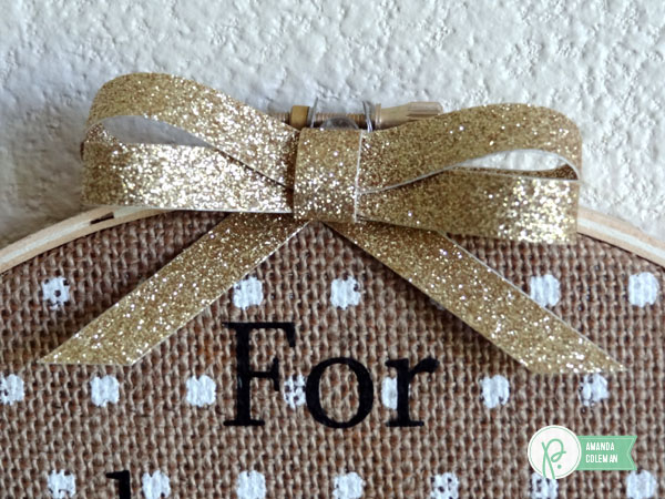 Burlap Hoop Decor by @popperandmimi using the Home+Made collection from @pebblesinc