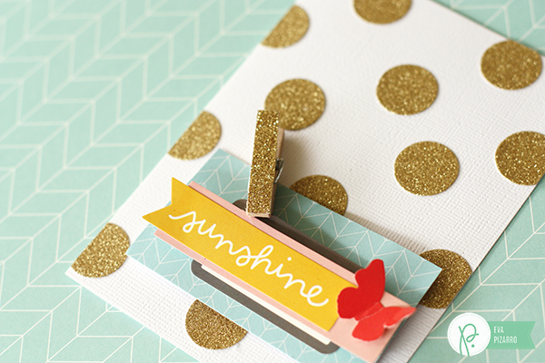 gold card trio by @evapizarrov using the #JHhomemade line by @pebblesinc