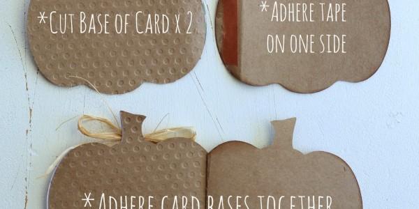 Pumpkin Shaped Cards
