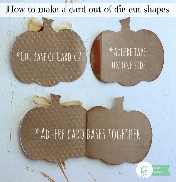 How to make a card out of die cut shapes by @ribbonsandglue #pebblesinc