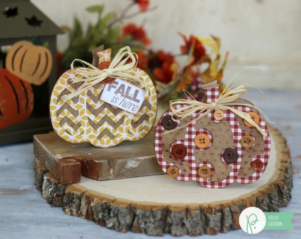 Fall Cards made from @pebblesinc Basics and From Me to You collection and #sillhouetteamerica by @ribbonsandglue