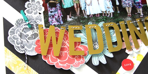 Wedding Layout with Mini Clothespins