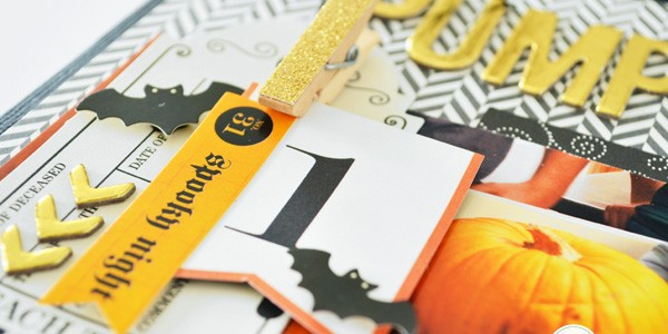 Pumpkin Carving Layout with Coordinating Mini Clothespins