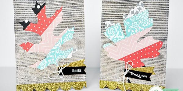 Colorful Fall Leaf Card Set
