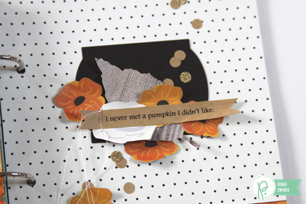 a gathering of favorite fall memories into this Colors of Fall mini album by @reneezwirek using the #JHHomeMade collection by @Pebbles Inc. and @Tatertots and Jello .com