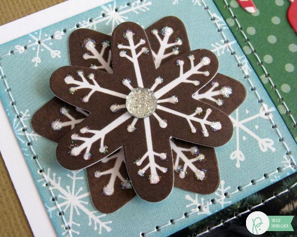 Christmas Embellishment by Mendi Yoshikawa using the #HomeForChristmas collection from @PebblesInc. @SnippetsByMendi