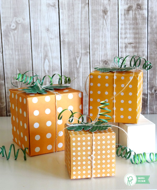Pumpkin Gift Boxes by @popperandmimi using @PebblesInc collections