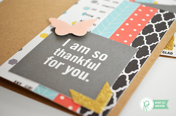 Thank You cards gift set by @wendysuea using the #JHHomeMade collection by @PebblesInc.