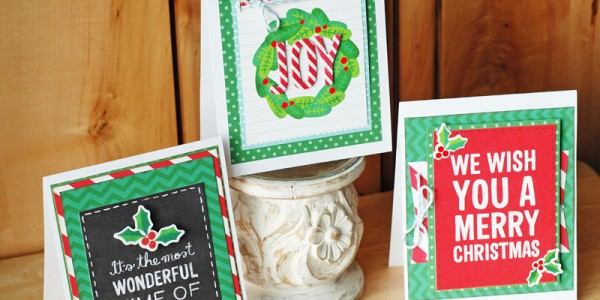 10 Minute Christmas Cards Using 3×4 Cards