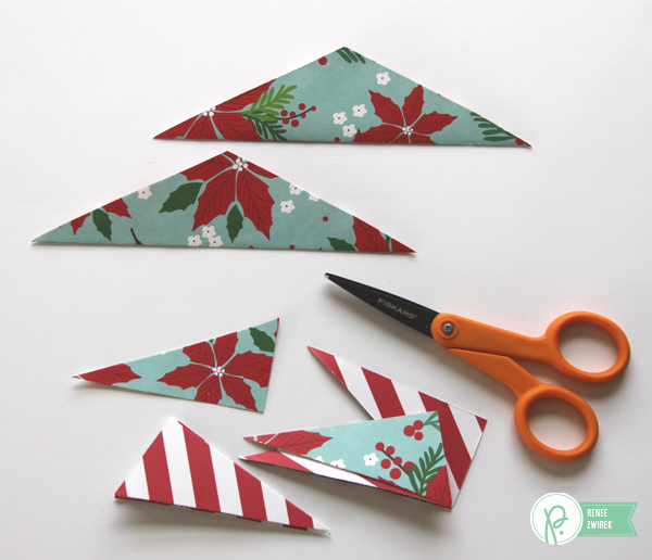 geometric paper ornaments by @reneezwirek using the #HomeForChristmas collection by @PebblesInc.