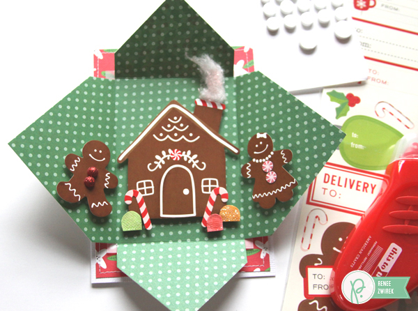 Holiday Cards for Teachers by @reneezwirek using the #HomeForChristmas collection by @PebblesInc.