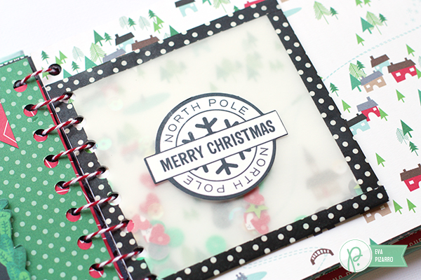 12 Days of Christmas Mini Album by @evapizarrov for @pebblesinc  using the #HomeforChristmas collection