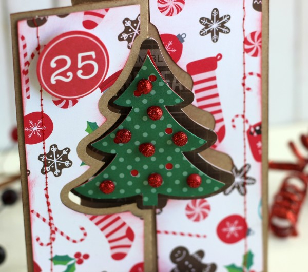 Christmas Card made with @pebblesinc Home for Christmas collection by @ribbonsandglue