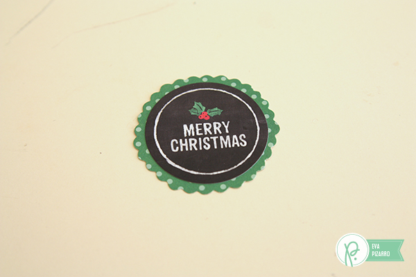 Mini Christmas Cards by @evapizarrov usind the #HomeForChristmas collection by @pebblesinc