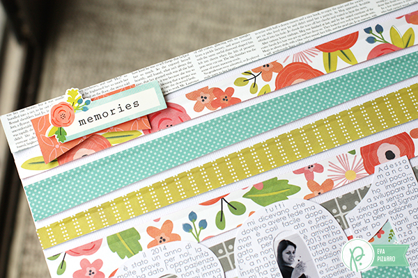 Journaling within a shape. Layout by @evapizarrov using #HappyDay Collection by @pebblesinc