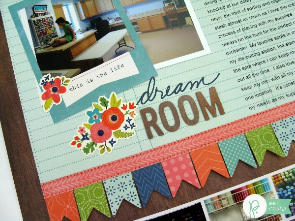Get Organized with Dream Room Layout by Mendi Yoshikawa using #HappyDay! collection from @PebblesInc. @SnippetsByMendi
