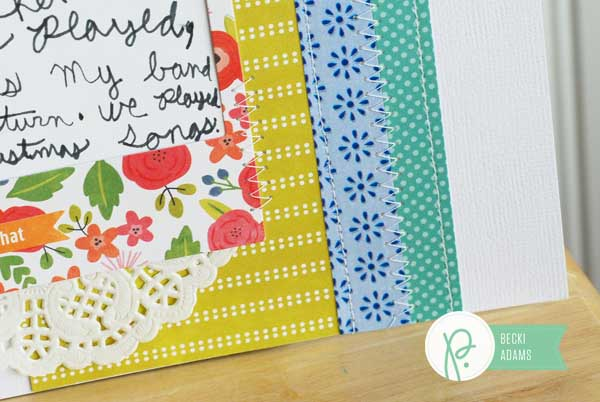 A layout using @Pebblesinc Happy Day Paper Tape created by @jbckadams