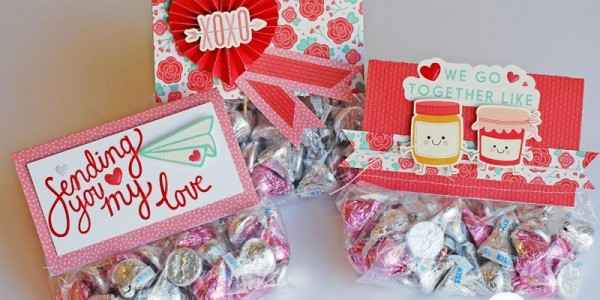 Easy Valentines Treat Bag Toppers
