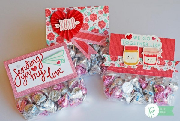 Valentines treat bag toppers created for @Pebblesinc by @jbckadams using the We Go Together collection