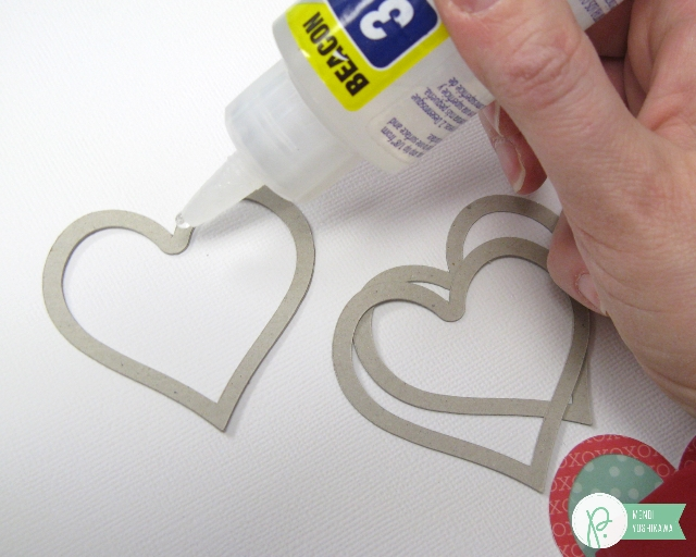 Valentine's Day Heart Shaker by Mendi Yoshikawa using the #WeGoTogether collection from @PebblesInc. @SnippetsByMendi