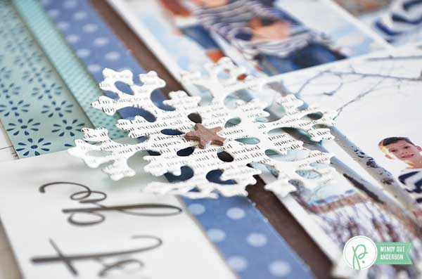 snow day layout by @wendysuea featuring the #happyday collection for @pebblesinc