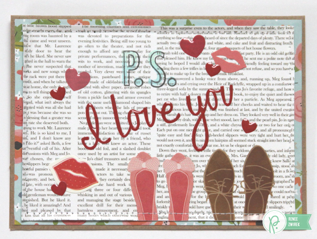 P.S. I Love You card by @Renee Zwirek using the #HappyDay and #WeGoTogether collections by @PebblesInc.