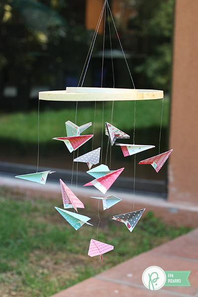 Airplane mobile made with the #wegotogether line from @pebblesinc