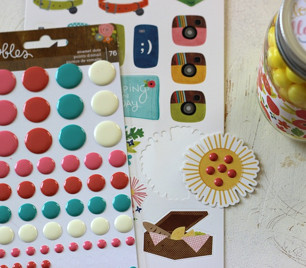 Enamel Dots and Stickers found in the Happy Day Collection by @pebblesinc