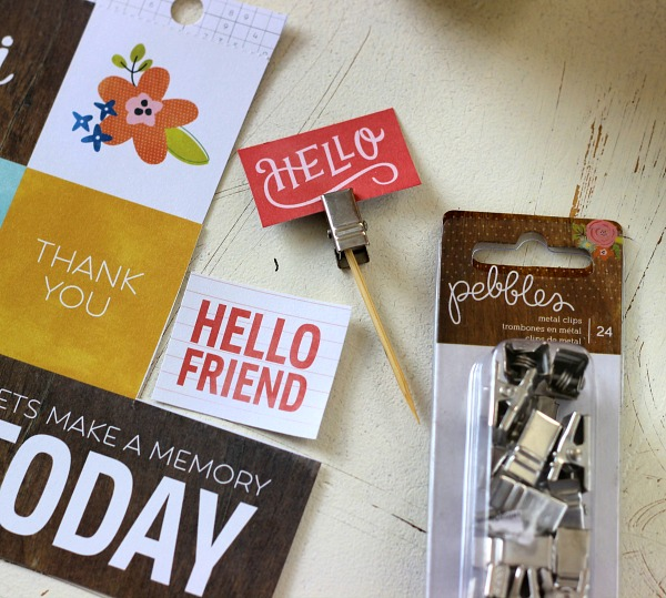 Metal Clips from the Happy Day Collection by @pebblesinc